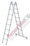 PPG Klappleiter 2-teilig mit nivello®-Traverse 2x8 Sprossen